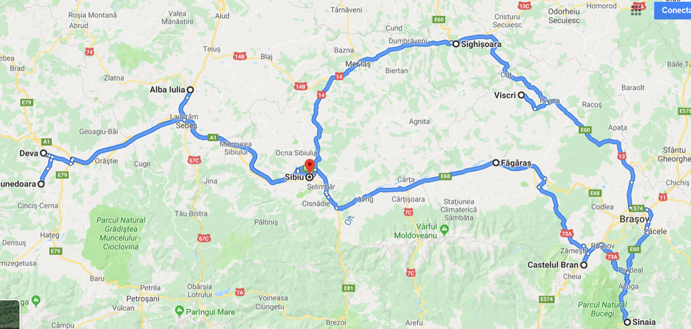 Map.Transylvanian Castles, Citadels & Fortresses (1)
